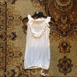Gap knitted white tank/sleeveless top